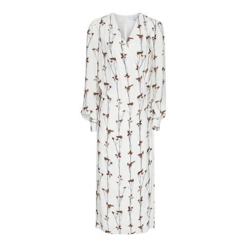 Reiss Ivory Renae Floral Wrap Dress