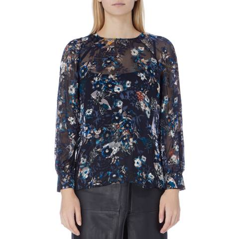 Reiss Mulri Inga Burnout Blouse