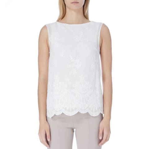 Reiss Off White Emma Lace Top