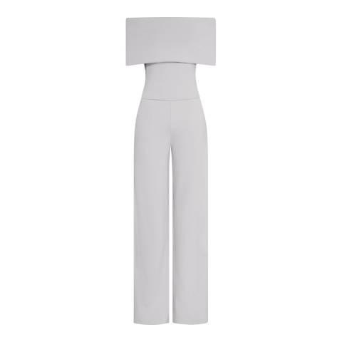 Reiss Grey Raffi Off Shoulder Jumpsuit