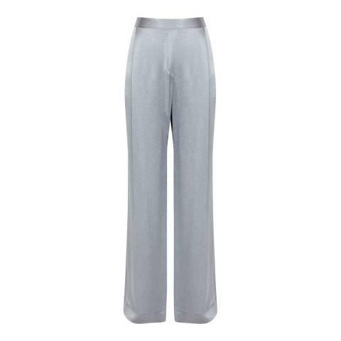 Reiss Silver Arianna Metallic Fluid Trousers