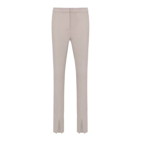 Reiss Light Grey Ayn Split Trousers