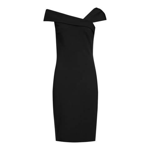 Reiss Black Lyn Asymmetric Dress