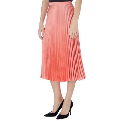 Reiss Coral Alicia Pleated Midi Skirt