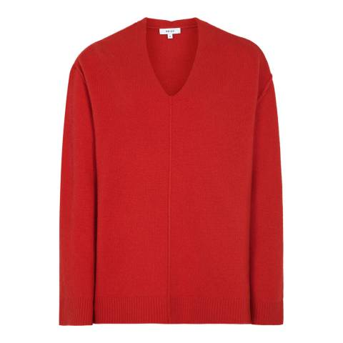 Reiss Red Serafina Wool/Cashmere Jumper