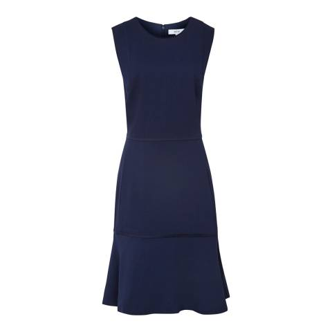 Reiss Navy Jackie Sleeveless Dress
