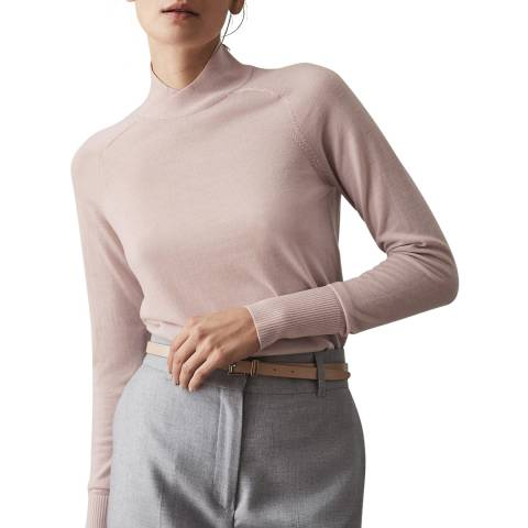 Reiss Pink Gemma Merino Wool Jumper