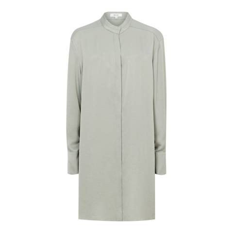 Reiss Green Bianca Longline Shirt