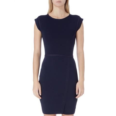Reiss Navy Jetta Knit Bodycon Dress
