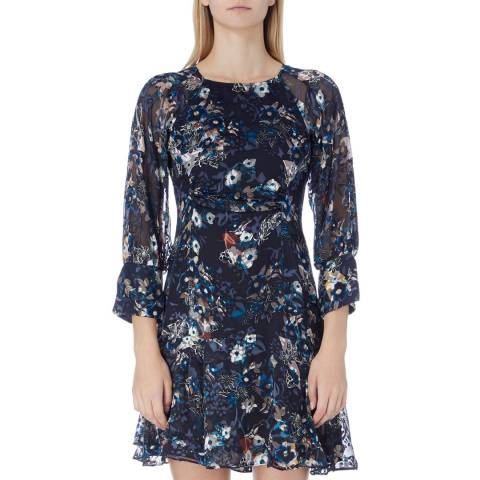 Reiss Multi Alberta Floral Print Dress