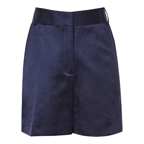 Reiss Navy Solene Metallic Shorts