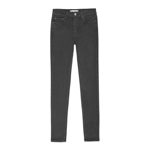 Reiss Washed Black Lux Skinny Jeans