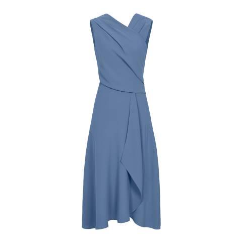 Reiss Blue Marling Wrap Dress