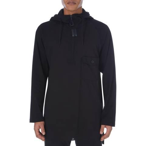 adidas Y-3 Black Detachable Hooded Long Sleeve Tee