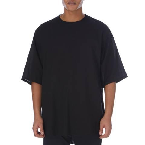 adidas Y-3 Black Tencel Short Sleeve Tee