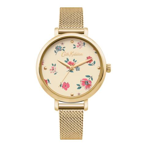 Cath Kidston Gold Stainless Steel Mesh Watch