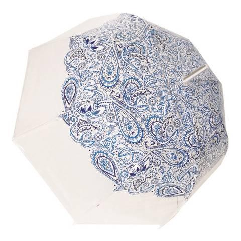 Smartbulle Transparent / Blue Paisley Birdcage Umbrella