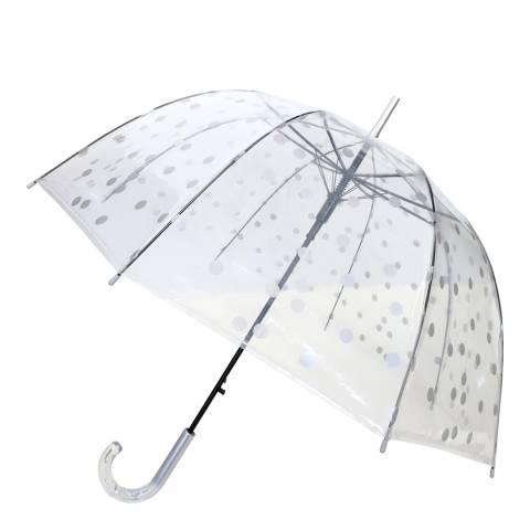Smati Transparent / Silver Dots Birdcage Umbrella