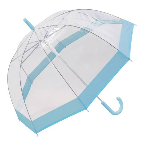 Susino Transparent / Pastel Blue Border Birdcage Umbrella