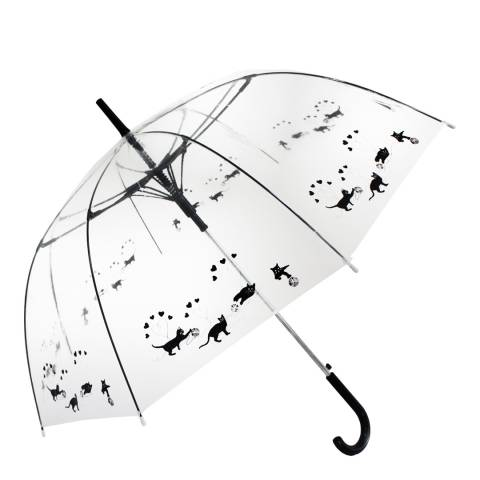 Blooms of London Transparent Cats Birdcage Umbrella