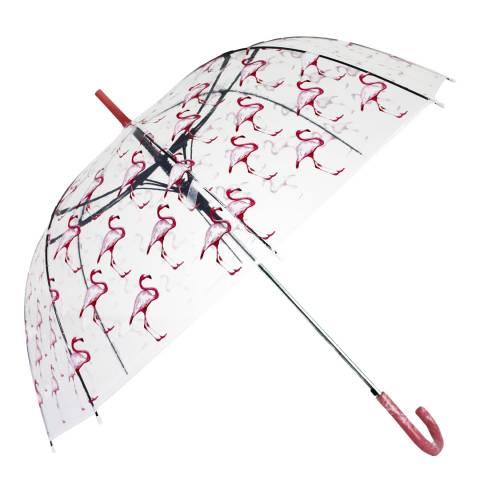 Blooms of London Transparent Flamingo Birdcage Umbrella