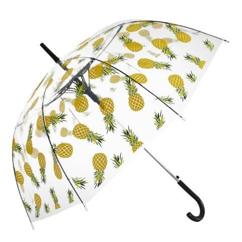 Blooms of London Transparent/Yellow Pineapple Birdcage Umbrella