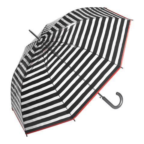Essentials by Happy Rain Transparent / Black Stripes Birdcage Umbrella