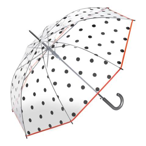 Essentials by Happy Rain Transparent Dots Birdcage Umbrella