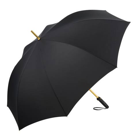Fare Black / Gold Golf Umbrella