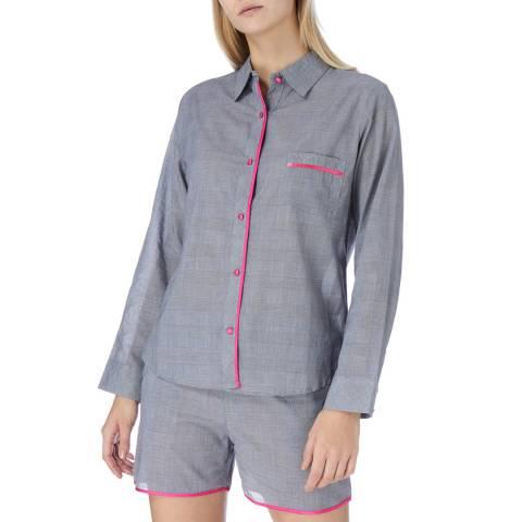 Cottonreal Grey Lyon Check Cotton Shortie Pyjamas