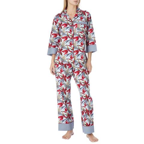 Cottonreal Multi Birds Of Paradise Cotton Classic Pyjamas