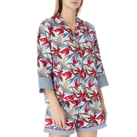 Cottonreal Multi Birds Of Paradise Cotton Shorties Pyjamas