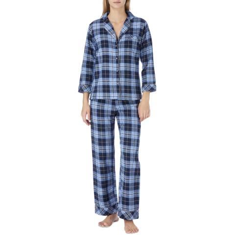 Cottonreal Blue Kiev Check Cotton Classic Pyjamas