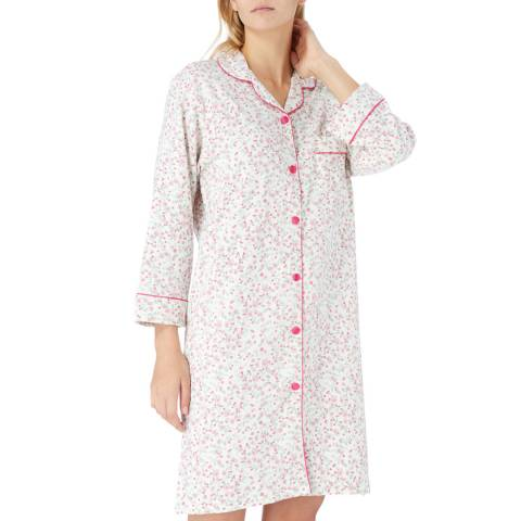 Cottonreal Ivory Country Floral Cotton Nightshirt