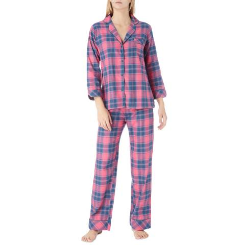 Cottonreal Pink Deluxe Twill Checked Cotton Pyjamas
