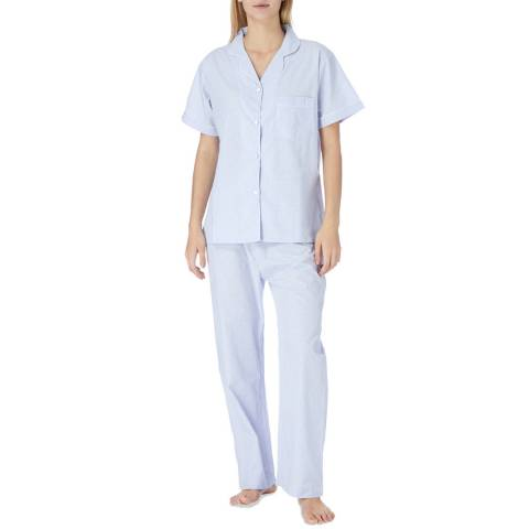 Cottonreal Pale Blue Paloma Swiss Dot Cotton Classic Pyjamas