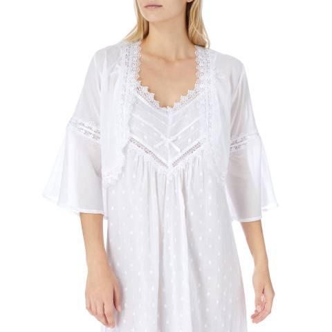 Cottonreal CR...Deluxe Batiste Quipure Belero Bed Jackets