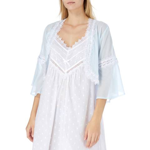 Cottonreal Pale Blue Maria Batiste Bed Jacket