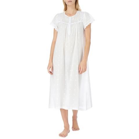 Cottonreal Ivory Nola Polkadot Cotton Nightdress