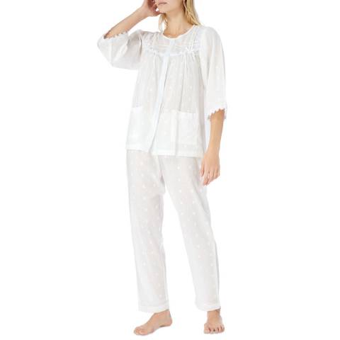 Cottonreal Ivory Norma Polkadot Cotton Pyjamas
