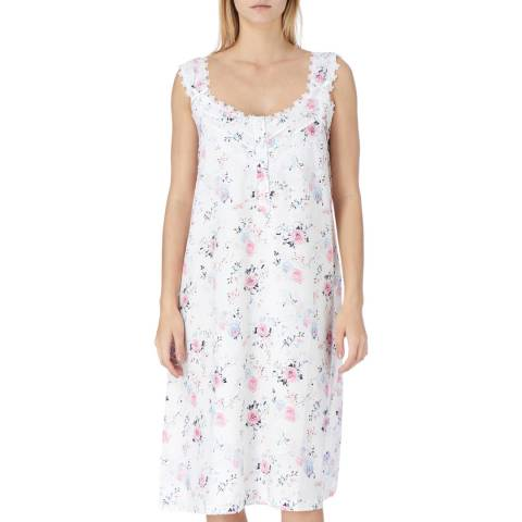 Cottonreal White Victoria English Rose Cotton Nightdress