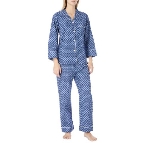Cottonreal Blue Rome Mini Tile Cotton Classic Pyjamas