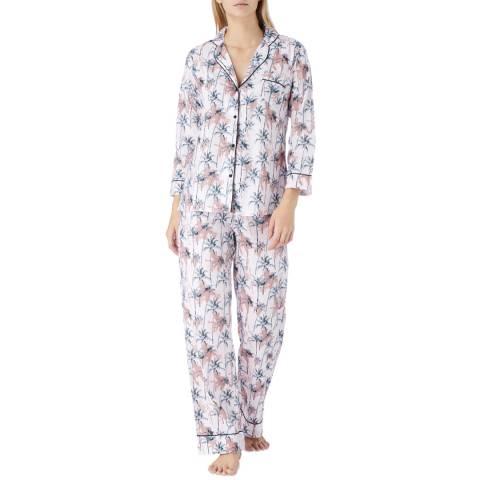 Cottonreal Pink/Multi Porto Tropical Palm Cotton Classic Pyjamas