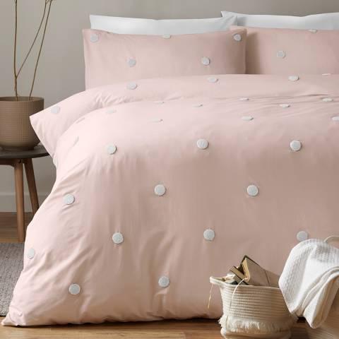 N°· Eleven Dot Garden Double Duvet Cover Sets, Pink/White