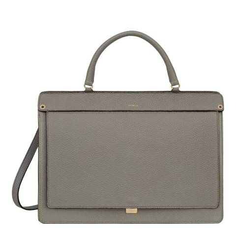 Furla Grey Like Medium Top Handle Bag
