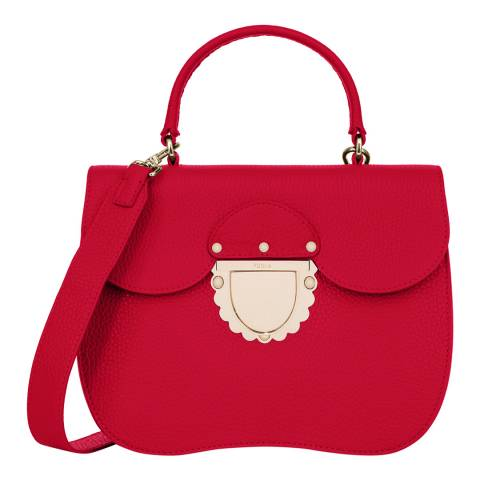 Furla Red Ducale Top Handle Bag