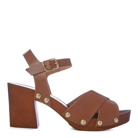 Carvela Tan Bolder Clog Heeled Sandals