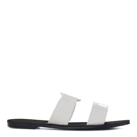 Carvela Black & White Flat Slide Sandals