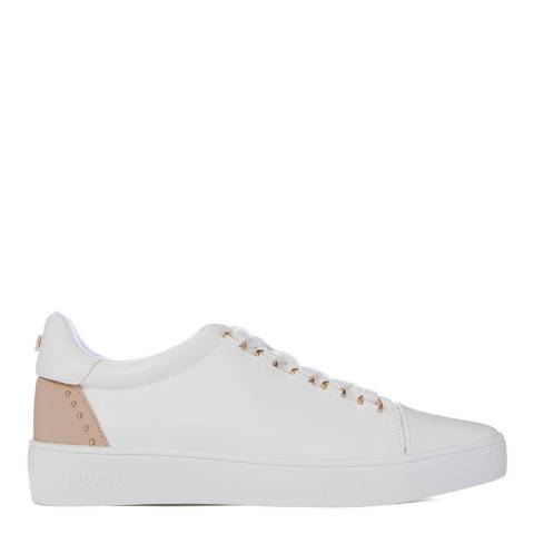 Carvela White & Nude Jacked Sneakers