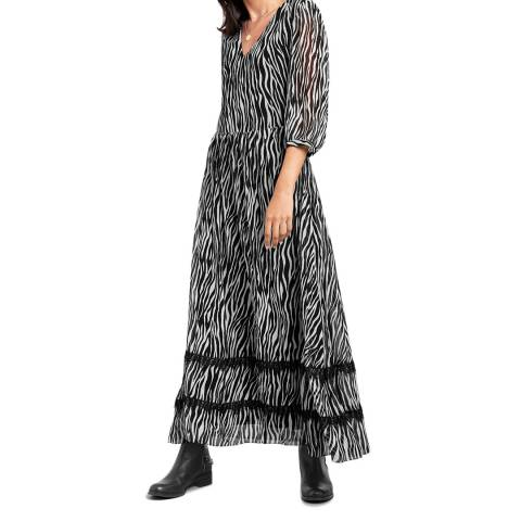 hush  Zebra Print Maxi Dress